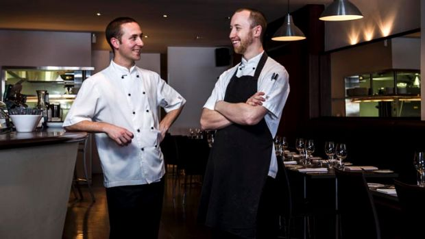 Artisan chefs and owners Sam McGeechan and David Black.