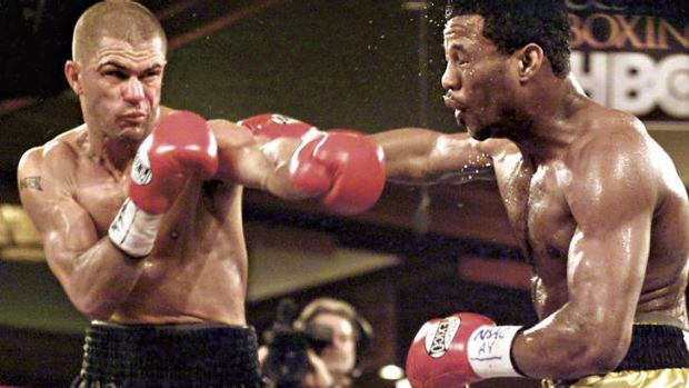 """Blast from the past … Shannan """"Bulli Blaster"""" Taylor takes on US boxer Shane Mosley in Las Vegas, 2001."""