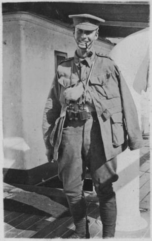 Geoff McCrae after being wounded at Gallipoli.
