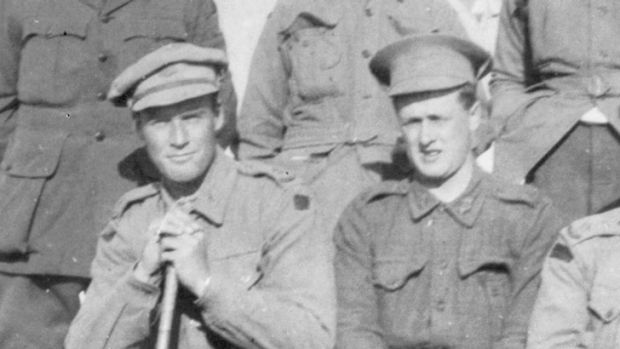 Former Melbourne Grammar schoolmates Geoff McCrae (L) and Alf Jackson had their friendship and their lives torn apart by war.