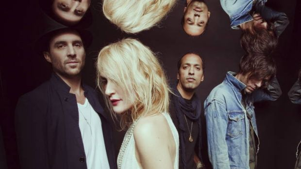 Emily Haines (second from left) and her bandmates hope to make a difference through art.