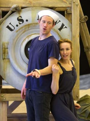 Eddie Perfect and Lisa McCune during rehearsals.