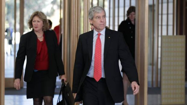 Nick Warner, director-general of the Australian Secret Intelligence Service, on his way to making a public address, the ...