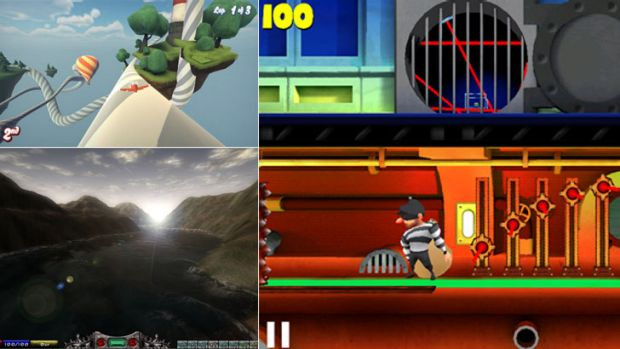 Clockwise from top left: Tail Drift; Bank Job; and Malevolence.