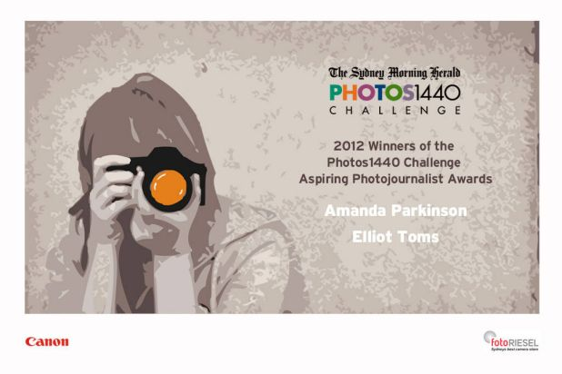 The aspiring photojournalist winners are.....