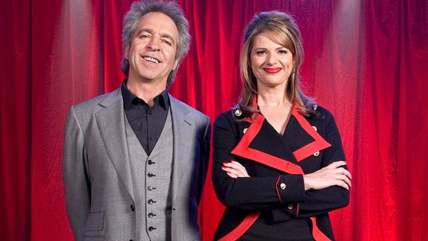 Brian Nankervis and Julia Zemiro of <i>RocKwiz</i>.