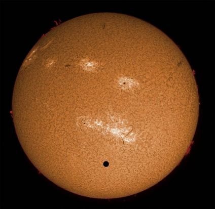 """Venus Transit in Hydrogen Alpha Light""."