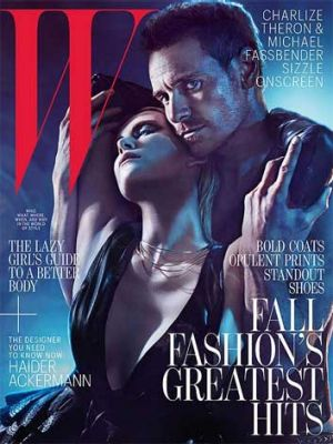 Charlize Theron and Michael Fassbender in the steamy <i>W</i> magazine shoot.