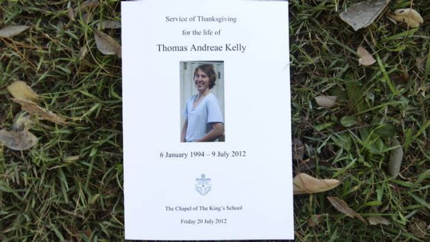 Thomas Kelly: he was farewelled at the Kings School chapel in Sydney.