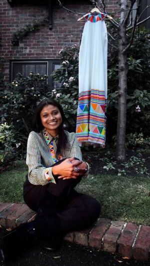Roopa Pemmaraju has finally won recognition for her exquisite silk designs, which feature the work of Indian and ...
