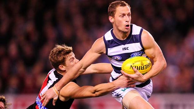 Geelong's James Kelly had 24 possessions, 14 of them contested.