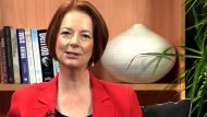 Gillard drops by for a Hangout (Video Thumbnail)