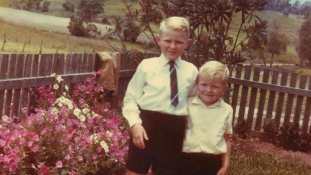 Two little boys … the Rudd brothers, Greg, left, and Kevin.
