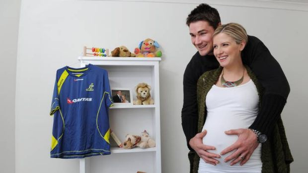 ACT Brumbies captain Ben Mowen and wife Lauren are expecting their first child in four weeks.