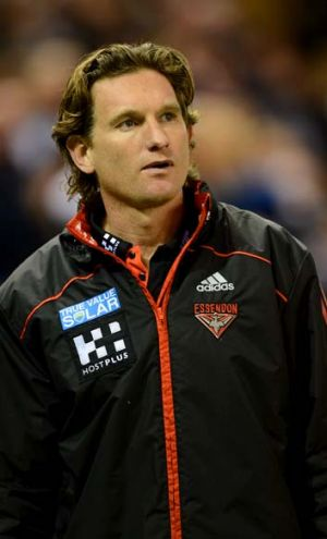 James Hird after the loss to Geelong.