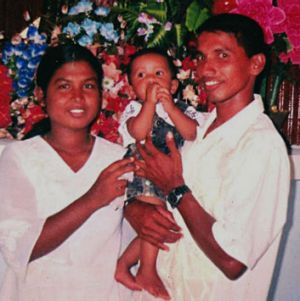 Sumith Balapuwaduge and his wife Leena, with son Suhas, before Sumith tried to claim asylum. His application was ...