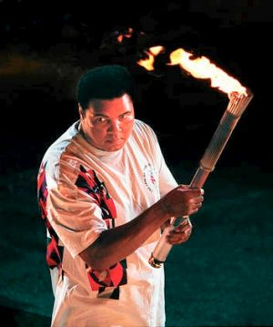 Image result for muhammad ali lights torch