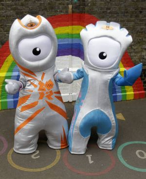 Olympic mascots Wenlock (left) and Mandeville are ready to try to enliven the lengthy opening ceremony.