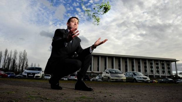 National Capital Authority's Gary Rake in the car park next to the National Library.