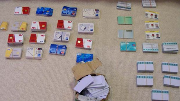 Credit cards found in the factory.