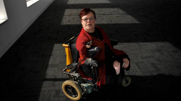 Thalidomide victim Mary Henley-Collopy wants ''satisfactory compensation'' for her disability.