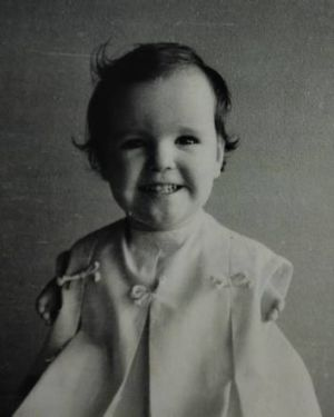 Ms Henley-Collopy at the age of three.