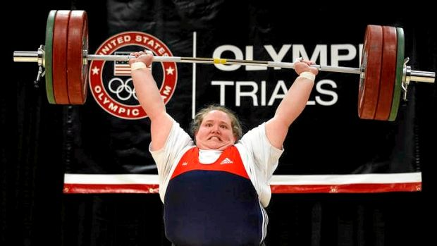 Holley Mangold competes at the 2012 US Olympic trials.
