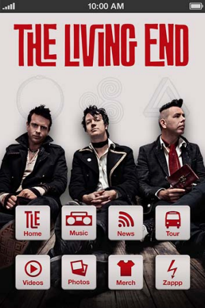 The Living End's app.