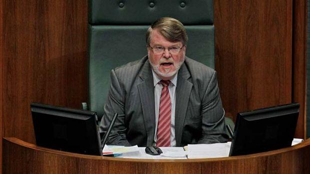 Warmed allies and rivals alike ... former speaker Harry Jenkins.