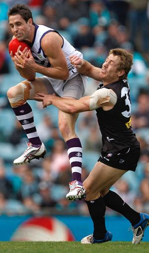 Luke McPharlin starred as the Dockers easily beat Port Adelaide this afternoon.