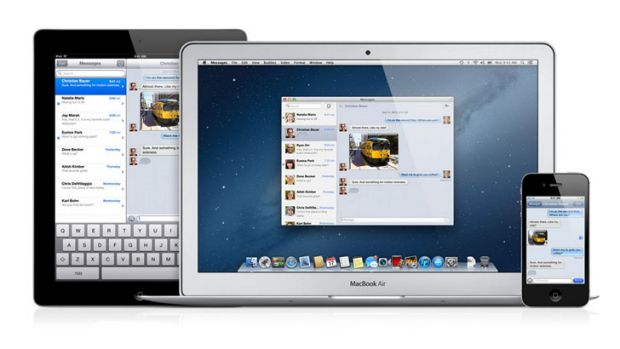 Apple adds Messages to Mac OS 10.8 Mountain Lion.