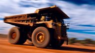 ore truck, Granny Smith Gold Mine, Laverton, Central Goldfields, Western Australia.. Photograph by Alamy. SHD TRAVEL ...