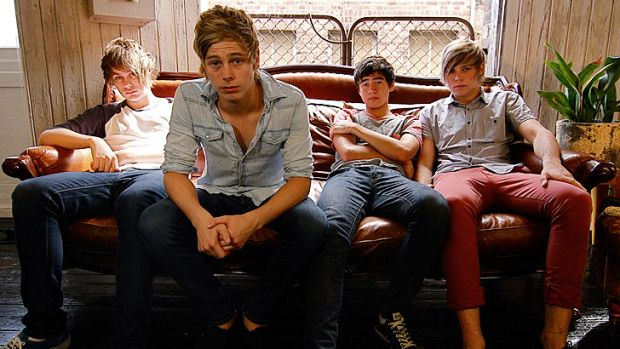 Likely lads: 5 Seconds of Summer band members (from left) Michael Clifford, Luke Hemmings, Calum Hood and Ashton Irwin.