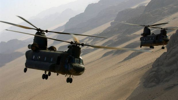 Australian Army CH-47 Chinooks.