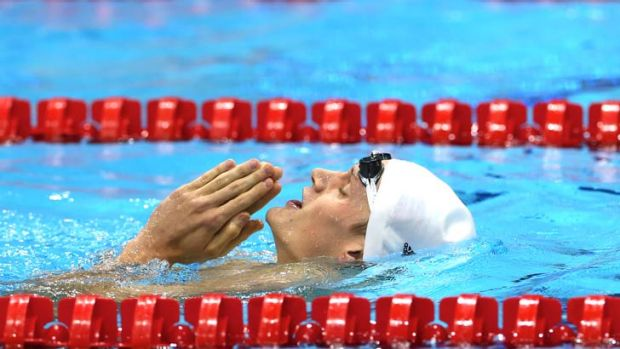 Frenchman Yannick Agnel celebrates his 200m freestyle victory at the London Olympics.