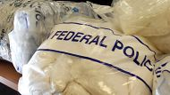 AFP display the record haul of Meth at HQ in Sydney. 239 Kg was collected in total.pic Nick Moir 5 May 2011