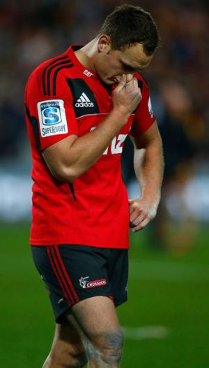 Crusade over ... Israel Dagg shows his disappointment after the loss to the Chiefs.