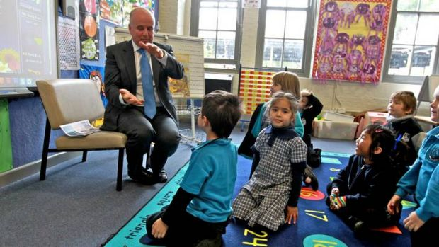 """Adrian Piccoli ... """"Moving the teaching workforce not already part of the new scheme onto that scheme should be ..."""