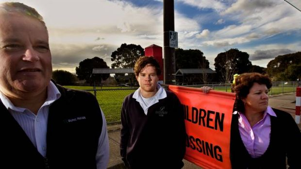Unhappy: Mike and Marg Maughan and son Hayden have serious misgivings about the proposed closure of Parkwood.