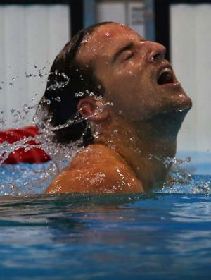Going swimmingly .. James Magnussen last night.