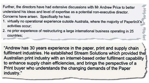 Wrong Price, right Price: PaperlinX letters to the ASX.