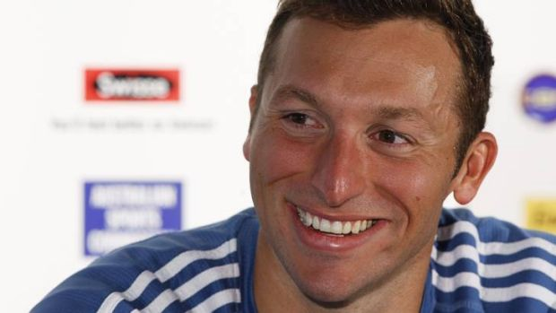 Ian Thorpe ... says Magnussen curled his hand.