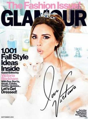Guest editor: Victoria Beckham takes the reins of US <i>Glamour</i> magazine's September 2012 fashion issue.