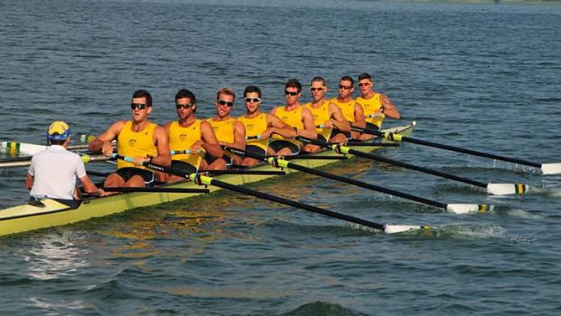 The Australian men's eight team finished sixth in the six-crew final at Lake Dorney yesterday.