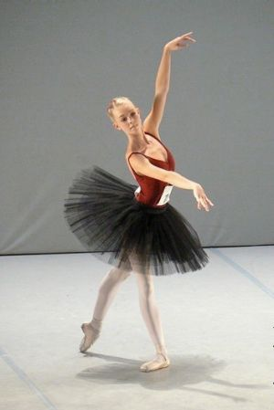 Bianca at 16 performing at the Prix de Lausanne in Switzerland.