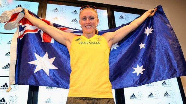 Going for gold ... Sally Pearson.