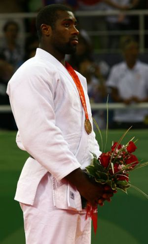 The competition favourite ... French team member Teddy Riner at the Beijing Olympics in 2008.