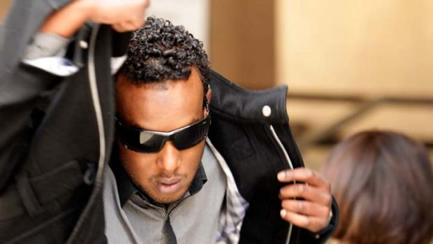 Abdi Farah, outside Melbourne Magistrates Court after an earlier appearance.