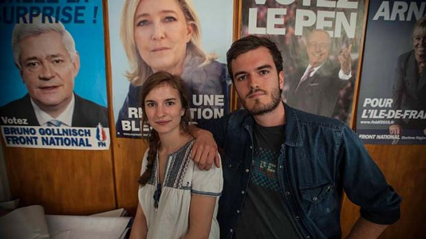 Youth vote ... Thibault and Camille, above, and Karime, left, the grandson of North African emigrants, support France's ...