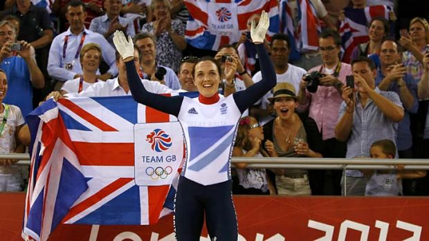 Victoria Pendleton ... lauded by the home crowd.